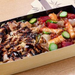 穴子海鮮ハーフ&ハーフ(特製たれ&漬け醤油)